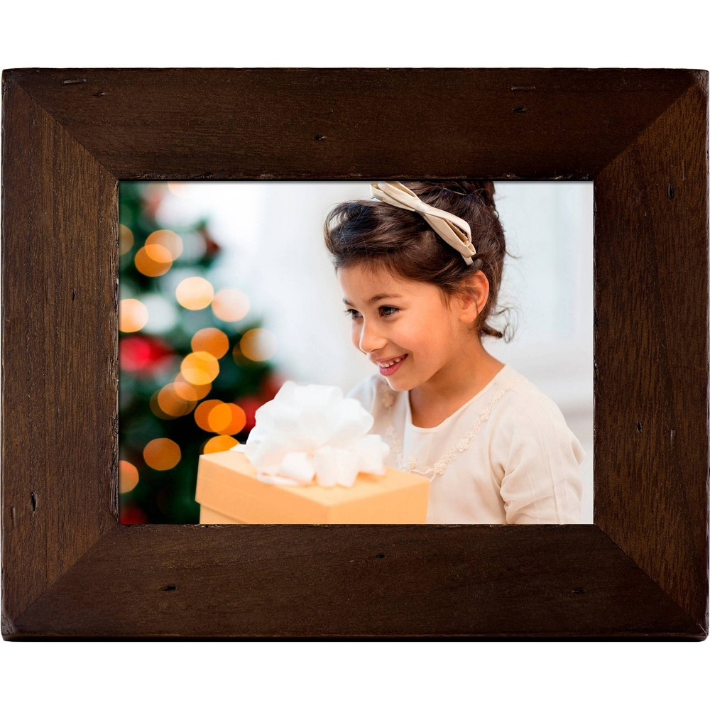"Image of ""8"""" Wi-Fi Digital Wood Frame Walnut - Polaroid, Brown"""