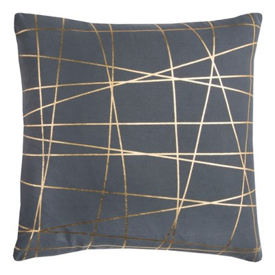 Throw Pillow Rizzy Home Gray Gold