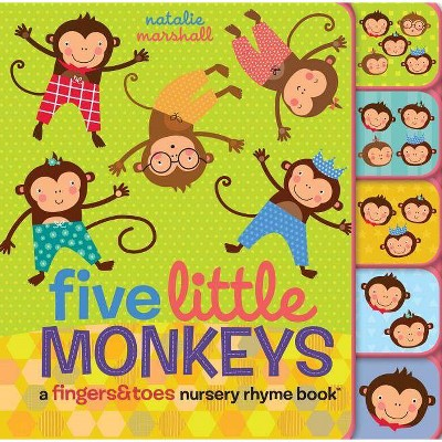 Five Little Monkeys - by Natalie Marshall (Board_book)