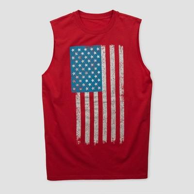 Men's Americana Flag Tank Top - Red