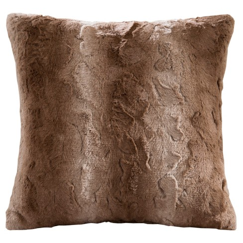 """20""""x20"""" Marselle Faux Fur Square Throw Pillow - image 1 of 4"""