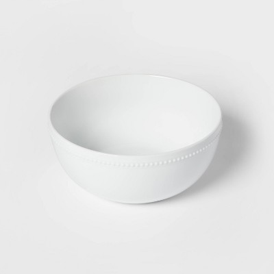 128oz Ceramic Beaded Serving Bowl White - Threshold™