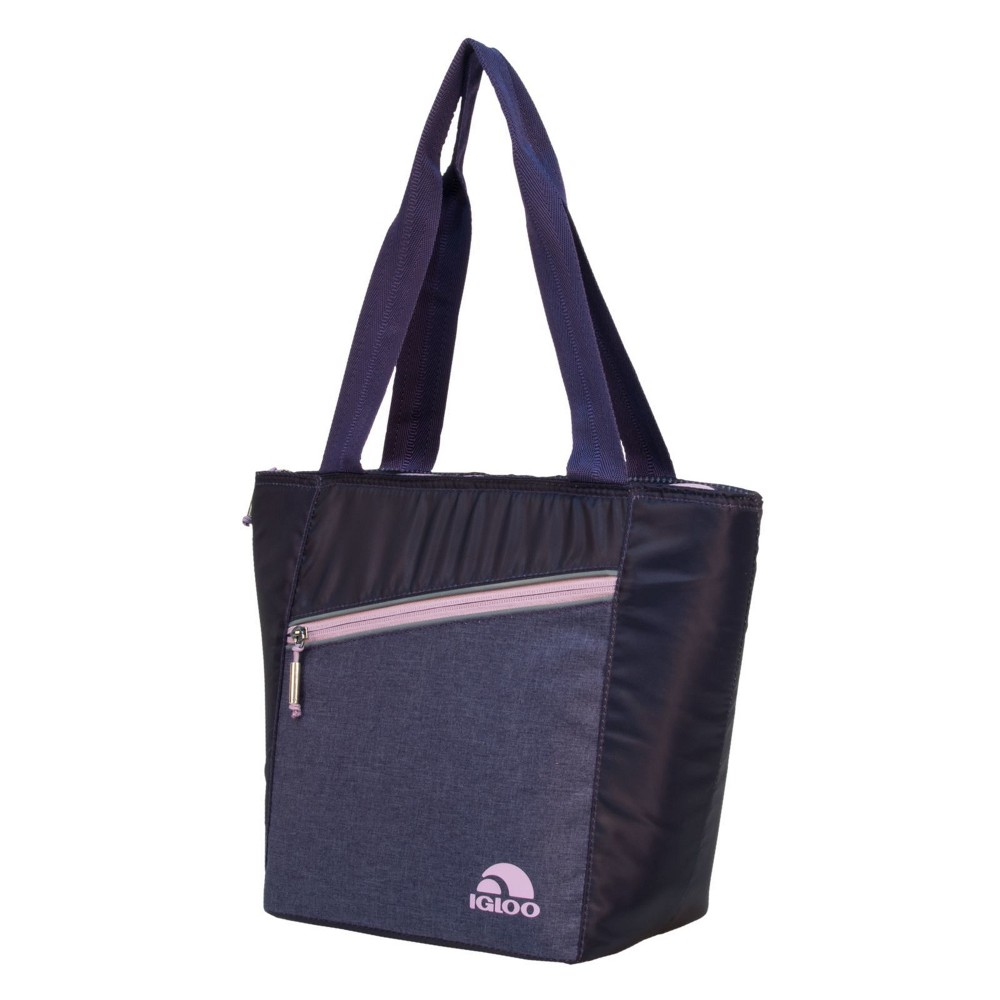 Image of Igloo 12 Can Balance Cooler Lunch Tote Cooler Bag - Purple/Blush