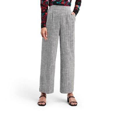 Women's Chevron High-Rise Wide Leg Tweed Pants - Rachel Comey x Target Black