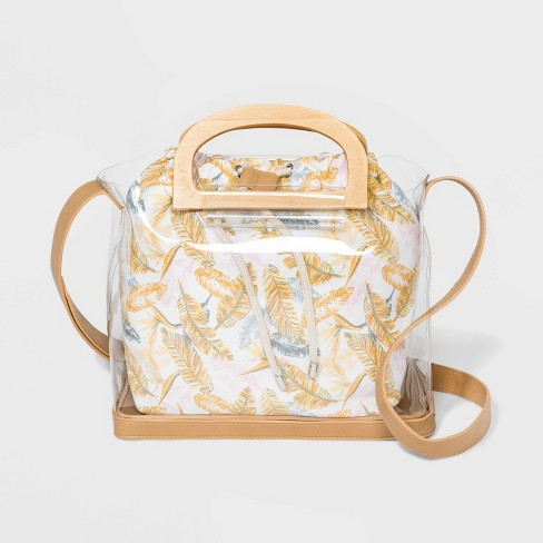 Jelly Tote Handbag - Wild Fable™ Medium Clear - image 1 of 4