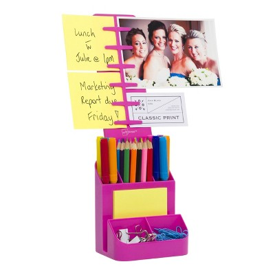 Desktop Organizer and Caddy Pink - Note Tower