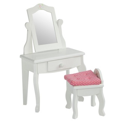 "Olivia's Little World - Little Princess 18"" Doll Furniture - Vanity Table & Stool Set"