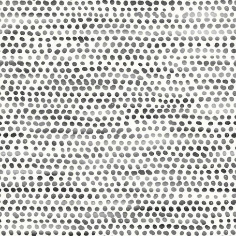 Tempaper Moire Dots Self Adhesive Removable Wallpaper Black White Target