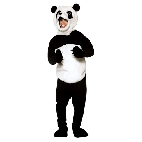 Adult Panda Costume Black/White One Size Fits Most - image 1 of 1