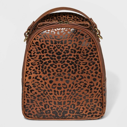 Bolo Leopard Print Metro Backpack - Brown - image 1 of 4