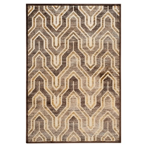 Maxime Viscose Area Rug Creme Brown 7 6 Quot X10 6