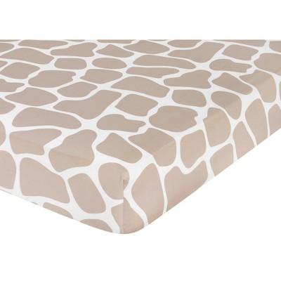 Sweet Jojo Designs Giraffe Fitted Crib Sheet - Print