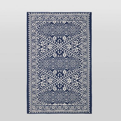 4'x6' Tapestry Outdoor Rug Blue - Threshold™