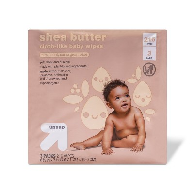 Shea Butter Personal Baby Wipes - 3pk/216ct Total - Up&Up™