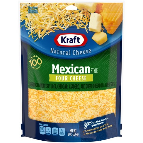 Kraft Natural Shredded Mexican Style Four Cheese - 8oz - image 1 of 4