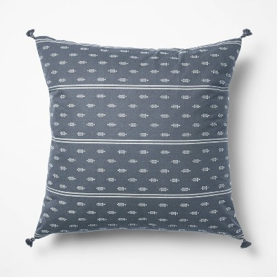 Woven Dobby Square Throw Pillow Blue/Neutral - Threshold™ designed with Studio McGee
