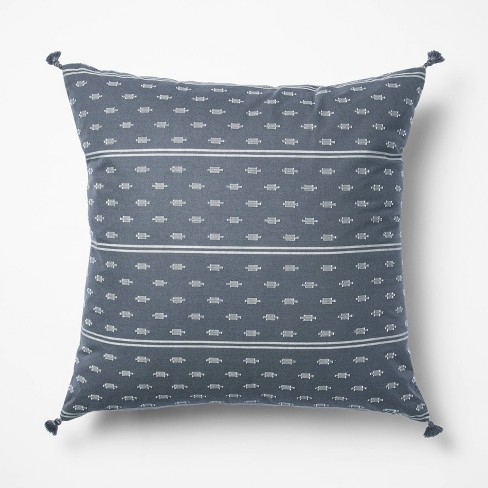 Woven Dobby Throw Pillow Blue/Neutral - Threshold™ designed with Studio McGee - image 1 of 4
