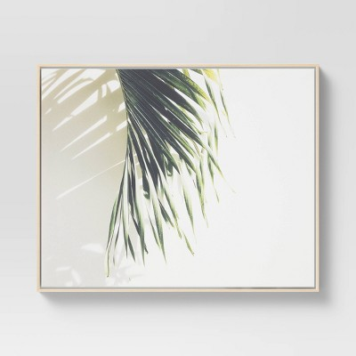 """24"""" x 30"""" Palm Shadow Framed Canvas - Project 62™"""