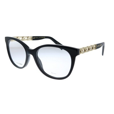 Marc Jacobs MARC 335 2 2M2 Mens Butterfly Sunglasses Black Gold 52mm