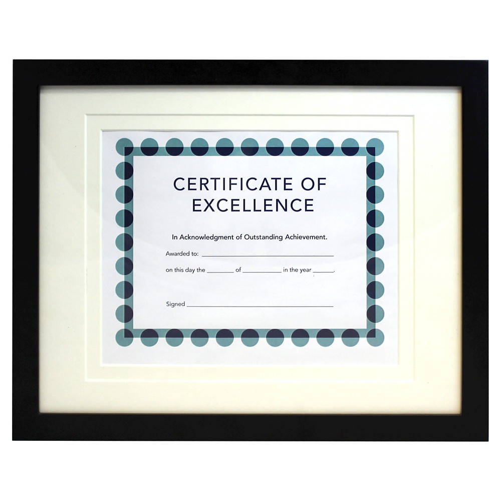 "Image of ""8.5"""" x 11"""" Back-Bevel Document Frame Matted - Room Essentials"""