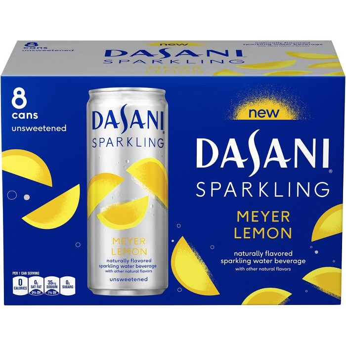 Dasani Sparkling Meyer Lemon - 8pk/12fl oz Cans - image 1 of 3