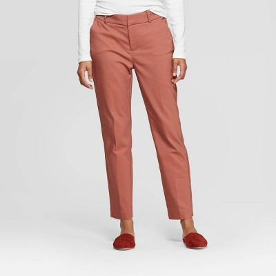 Women's Mid Rise Slim Ankle Pants   A New Day™ Blush by A New Day