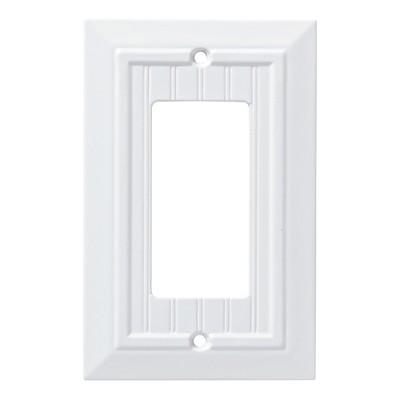 Franklin Brass Classic Beadboard Single Decorator Wall Plate White