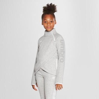 693dc9dc228 Umbro Girls' Asymmetrical Fleece Pullover – Heather Grey S – Target ...