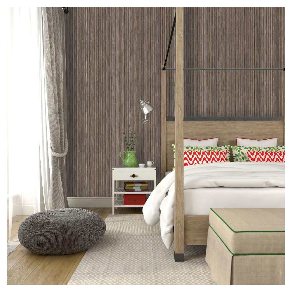 Tempaper Grasscloth Removable Wallpaper - Bronze, Brown