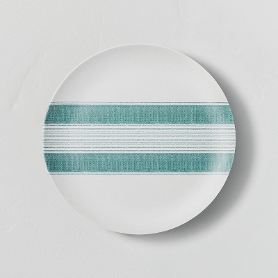 Bamboo Melamine Center Stripes Salad Plate Teal - Hearth & Hand™ with Magnolia