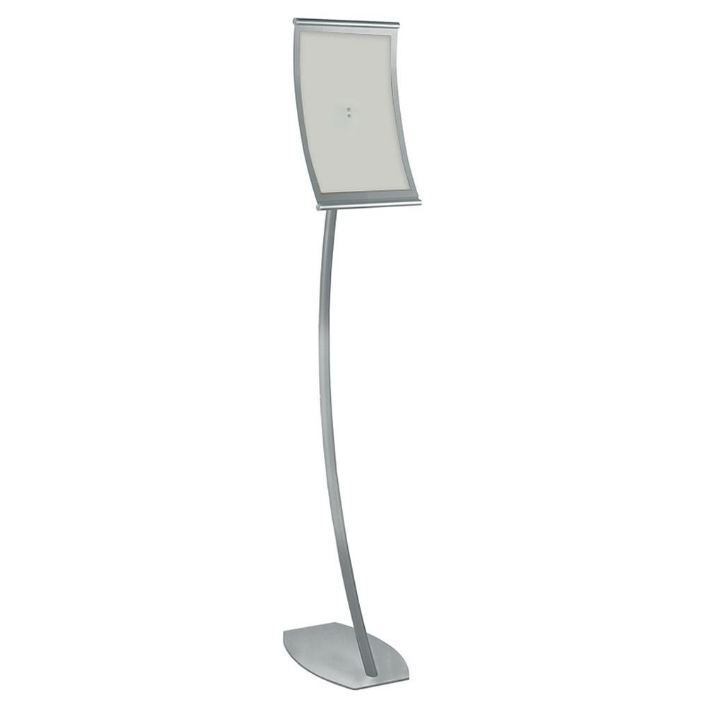 Azar 8 5 34 X 14 34 Curved Metal Frame Sign Holder Floor Stand