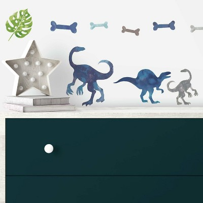 RoomMates Watercolor Dinosaur Peel and Stick Wall Decal