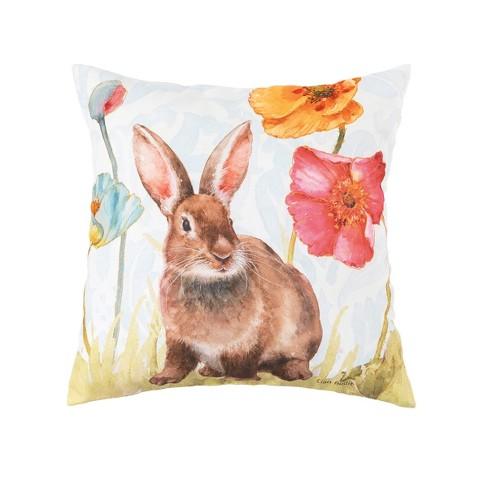 C F Home Sitting Spring Softies Bunny Easter Indoor Outdoor Pillow Target