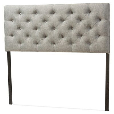 Viviana Modern And Contemporary Faux Leather Upholstered Button-Tufted Headboard - Baxton Studio