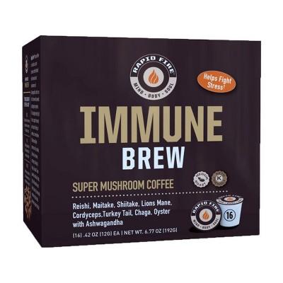 Rapid Fire Coffee Immune Brew Medium Roast Coffee Pods - 16ct