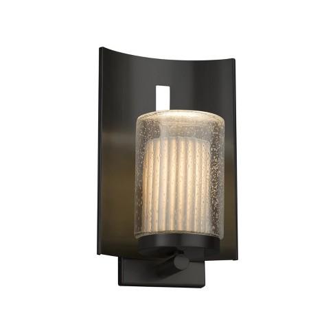 "Justice Design Group POR-7591W-10-PLET-LED1-700 Limoges Single Light 12-3/4"" High Integrated 3000K LED Outdoor Wall Sconce - image 1 of 1"