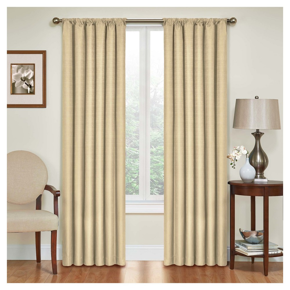 Kendall Thermaback Blackout Curtain Panel Tan (42