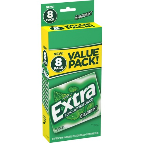 Extra Spearmint Sugar-Free Gum Value Pack - 120ct - image 1 of 4