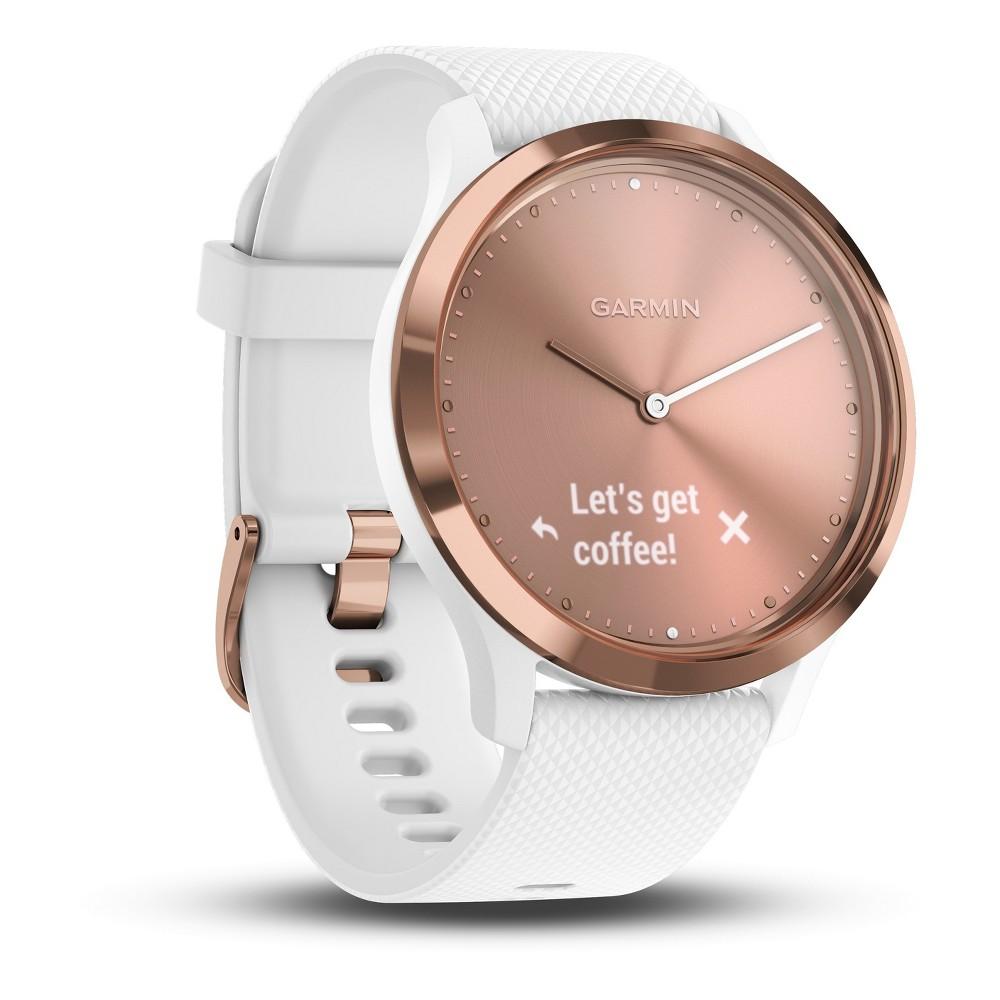 Garmin vivomove HR Hybrid Smartwatch - White/Rose Gold