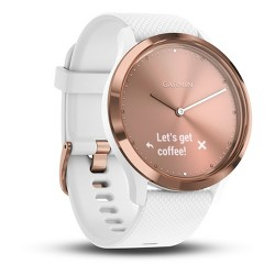 Garmin vivomove HR Hybrid Smartwatch - White/Rose Gold
