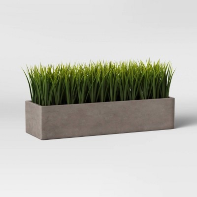 Faux Grass in Long Concrete Tray Green/Gray - Project 62™