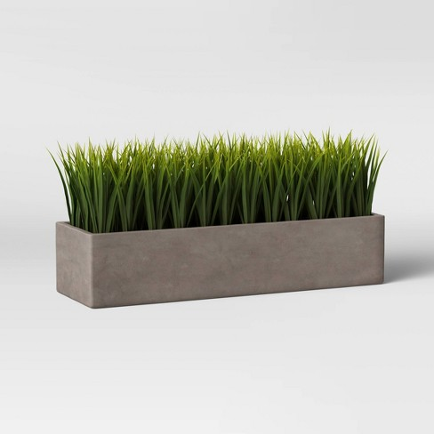 Faux Grass in Long Concrete Tray Green/Gray - Project 62™ - image 1 of 3