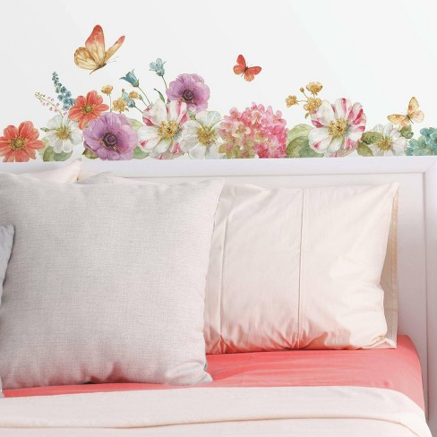Lisa Audit Garden Bouquet Peel and Stick Wall Decal - RoomMates - image 1 of 4