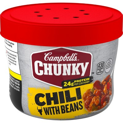 Campbell's Chunky Roadhouse Chili with Bean Microwaveable Bowl 15.25oz