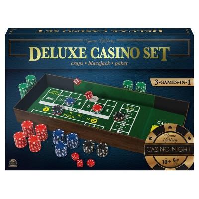 Game Gallery Deluxe Casino Set - Craps, Blackjack, Poker