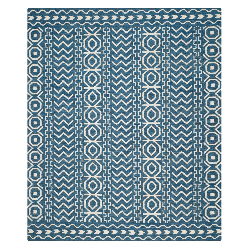 8'X10' Tribal Design Area Rug Dark Blue/Ivory - Safavieh