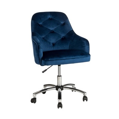 "40"" Fabric Gaslift Adjustable Swivel Office Chair - Glitzhome"