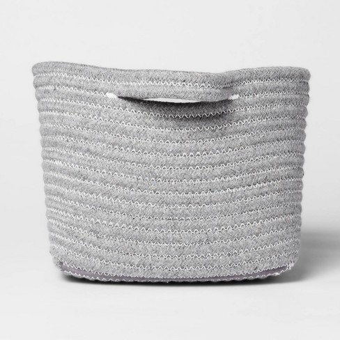Bath Basket Small Crate Gray - Threshold™ - image 1 of 4