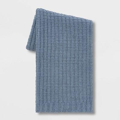 Solid Chenille Throw Blanket Blue - Threshold™