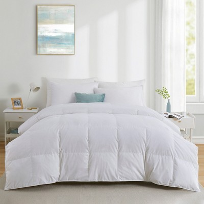 Puredown All Seasons 600 Fill Power 75% White Down Baffle Box Comforter